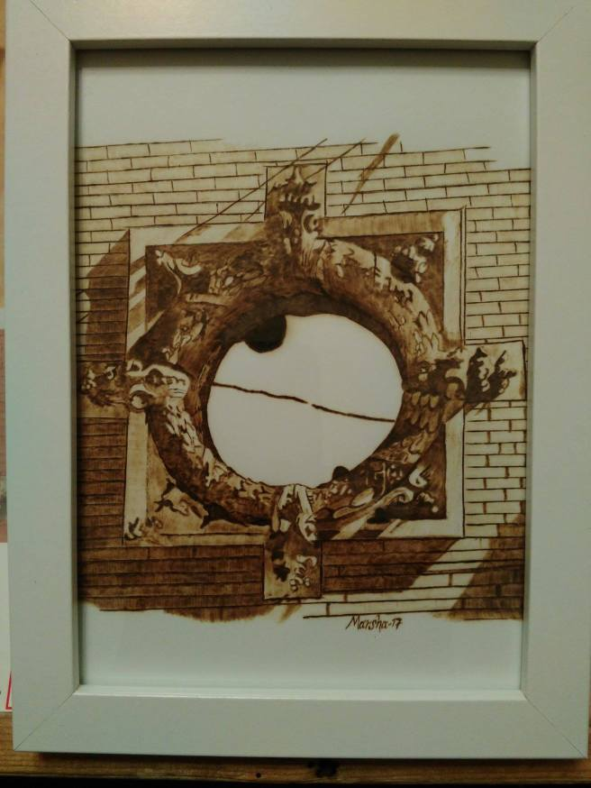 Wreath Window on the Waco Water Works For More Details Click https://woodburningbymarsha.com/wreath-window-at-waco-water-works/