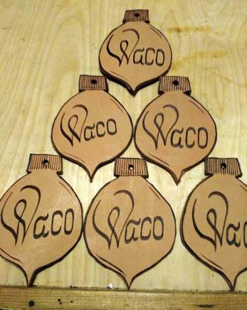 Leather Ornaments For more Details Click https://woodburningbymarsha.com/leather-coasters/