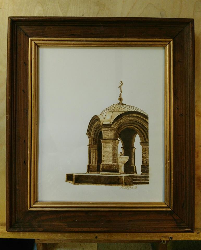 Brick Gazebo framed