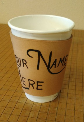 Custom Leather coffee sleeve. Please contact to order. Price depends on the image to be burned.