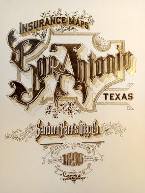 Sanborn map San Antonio print