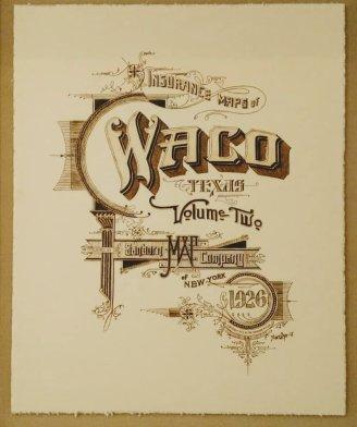 Sanborn map Waco print
