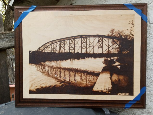 Railroad bridge frame choice dark