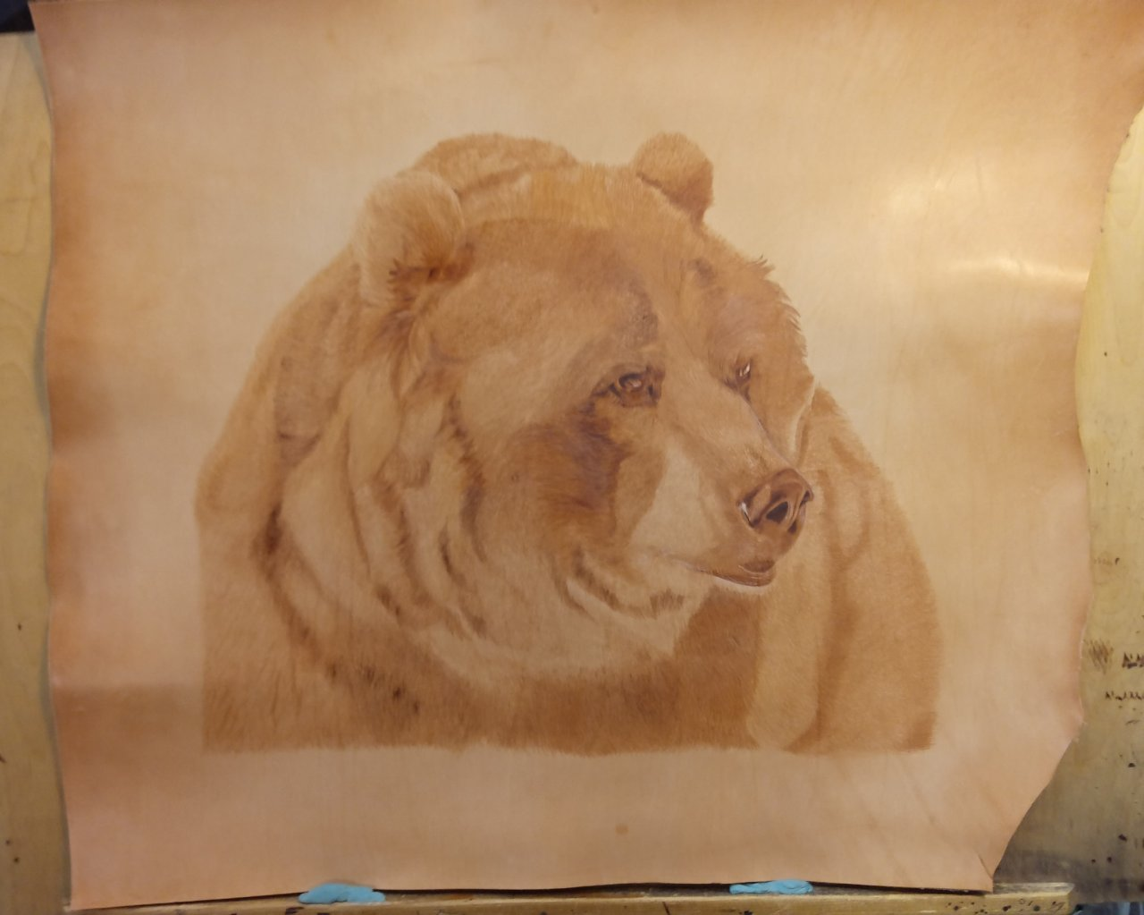 The Bear on leather
